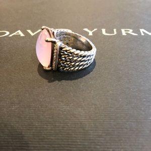 David Yurman Jewelry - Stunning David Yurman Wheaton Ring Rose Quartz!